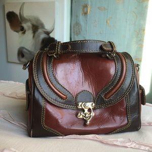 Vintage Mahogany crossbody bag from Etsy
